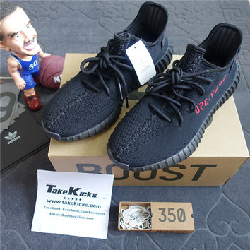 Original Adidas Yeezy 350 V2 Core Black Red Bred Boost Low SPLY CP9652