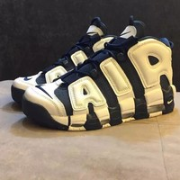 "Nike Air More Uptempo OG ""Olympic"" 414962-104 Size 36--45"