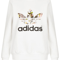**Trefoil Print Sweat by Topshop x adidas Originals