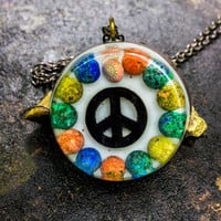 Orgonite Peace Sign Necklace + (Free Shipping In US)