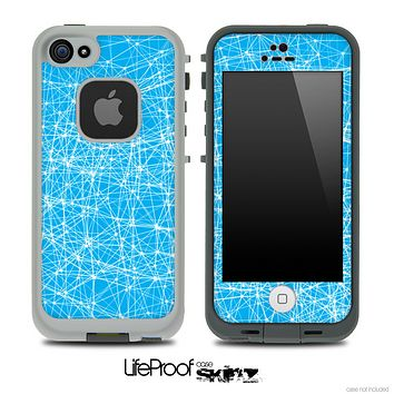 Abstract Blue Mesh Skin for the iPhone 5 or 4/4s LifeProof Case