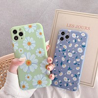 2020 new product simple daisy print IPhone 11 Pro mobile phone case cover