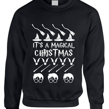 Adult Crewneck It's A Magical Christmas Ugly Sweater Cool Gift