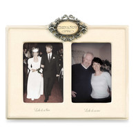 Then & Now Ivory Wedding Frame