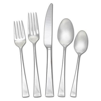 Mikasa 18/10 Stainless Steel, 65 piece silverware set (Lucia)