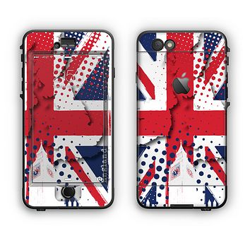 The Grunge Vector London England Flag Apple iPhone 6 Plus LifeProof Nuud Case Skin Set
