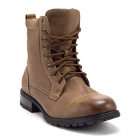 Men's 661 Tall Military Fashion Cap Toe Lace Up Combat Motorcycle Boots