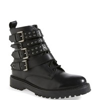 Women's Topshop 'Apply' Lace-Up Biker Boot