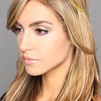 The Lux T-Strap Headband in Gold and Topaz by Laura Kranitz   Karmaloop.com - Global Concrete Culture