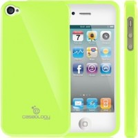 iPhone 4S Case, Caseology® [Daybreak Series] Slim Fit Shock Absorbent Cover [Lime Green] [Slip Resistant] for Apple iPhone 4S - Lime Green
