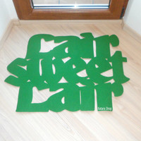 "Design door mat ""Lair sweet lair"". Personalized rug."