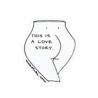 This is a Love Story Sticker