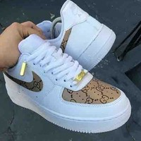 NIKE Air Force X Gucci Trnding Women Men Personality Running Sport Shoes Sneakers I