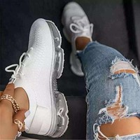 2020 new women's inner increased mesh breathable casual sneakers shoes