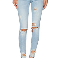 Lightwash Blue Ripped Slim Jeans