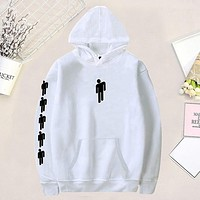 Billie Eilish Hoodies Sweatshirt Women/Men Long Sleeve Printed Hooded 2019 Casual Hoodie Women Sweatshirt moletom sudadera mujer