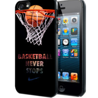 Nike Basketball Never Stop Samsung Galaxy S3 S4 S5 Note 3 , iPhone 4 5 5c 6 Plus , iPod 4 5 case, HtC One M7 M8