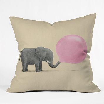 Terry Fan Jumbo Bubble Gum Throw Pillow