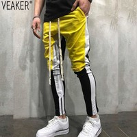2018 Autumn New Men's High Street Harem Pants Streetwear Hip Hop Sweatpants Male Patchwork Sweatpants Trousers Plus Size 4XL
