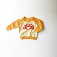 Sunshine Organic Raglan in Yellow and Orange