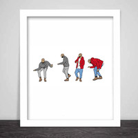 Drake Hotline Bling Dance Art Poster (6 sizes) // Jumpman views what a time Bling Drizzy Woes 6 god