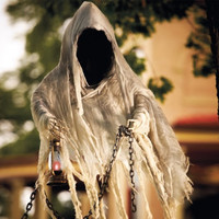 Life-size Hanging Faceless Specter Halloween Figure - Grandin Road