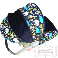 Zoology Lagoon Infant Car Seat Cover- Moves To Toddler
