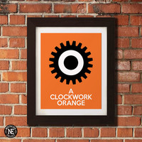 A Clockwork Orange - Gear Stencil Wall Art - Sizes - 5X7 - 8X10 - 16X20 Inches