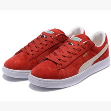 PUMA Pigeon Women Men Casual Running Sport Shoes Sneakers Red