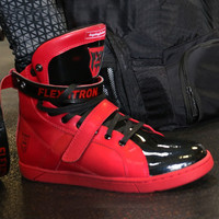 Red/Black Flexatron Super Shift Hightop Sneaker