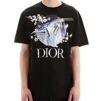 DIOR Stylish Men Women Leisure Digital Print Short Sleeve T-Shirt Top Blouse
