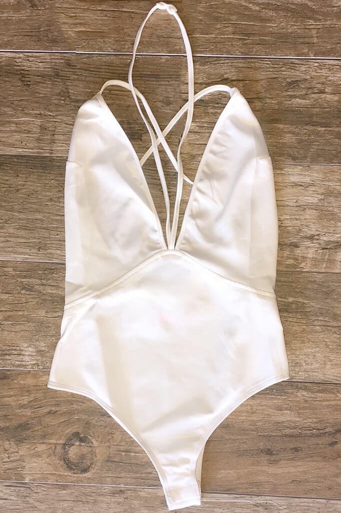 Image of Out of the Way Bodysuit - White