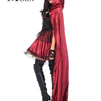 MOONIGHT High Quality Sexy Little Red Riding Hood Costume Party Adult Small Redcap Cosplay Dress 2017 Halloween For Women Macchar Cosplay Catalogue