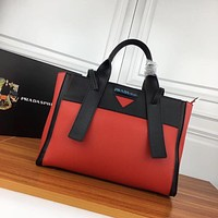prada women leather shoulder bags satchel tote bag handbag shopping leather tote crossbody satchel shouder bag 19