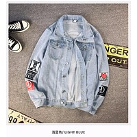 Denim Jacket Men'S New Handsome Men'S Cashmere Casual Clothes Young Student Jacket Men'S Clothing