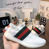 Gucci x Yeezy Boost 350 V2 White Shoes 36-45