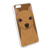 Chihuahua Face - Pet Dog Snap On Hard Protective Case for Apple iPhone 6