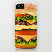 Cheeseburger YUM iPhone & iPod Case by All Is One