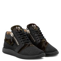 Giuseppe Zanotti Gz Runner Camouflage And Fabric 'runner' Sneaker