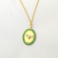 Bee Cameo Necklace