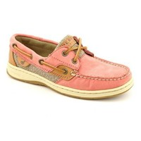 Sperry Top-Sider Women's Bluefish 2-Eye Washed Red Boat Shoe 10 M (B)
