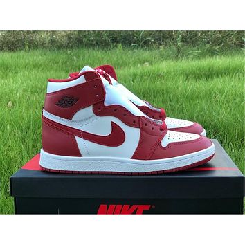 NIKE Air Jordan 1 high top, reverse white and red Chicago 40-47