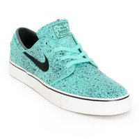 Nike SB Zoom Stefan Janoski PR Crystal Mint & Black Speckle Skate Shoes