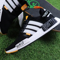 Best Online Sale OFF WHITE x Adidas NMD R1 Boost BA8860 Casual Shoes Sport Shoes Sneaker