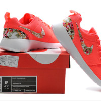 """""""NIKE"""" Trending Fashion Casual Sports Shoes roses &red  Floral"""