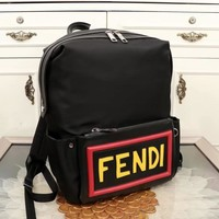 Fendi men's bag handbag Nylon grey