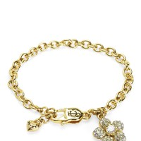Pave Flower Charm Bracelet by Juicy Couture