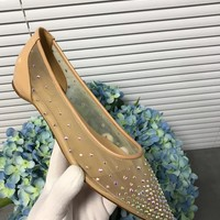 Fashion Christian Louboutin Cl Follies Strass Flats Nude