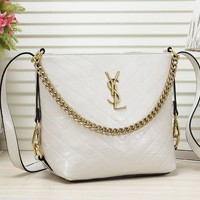 YSL fashion new texture large capacity shoulder Messenger bag  Chain bag