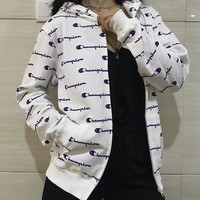 Champion Woman Men Fashion Cardigan Jacket Coat Hoodie